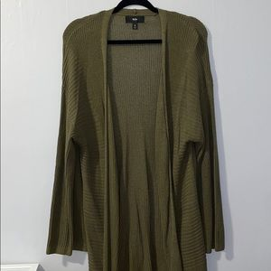 Mossimo Olive Green Long Cardigan